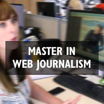 Master online in Web Journalism